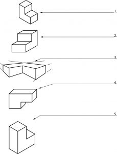 Geometric shapes for the student to identify.