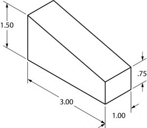Example of dimensioning an isometric drawing.