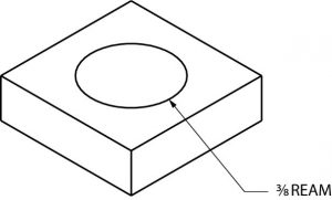 Example of placing notes on an isometric drawing.