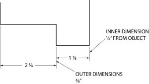 Example of an inner dimension and an outer dimension.