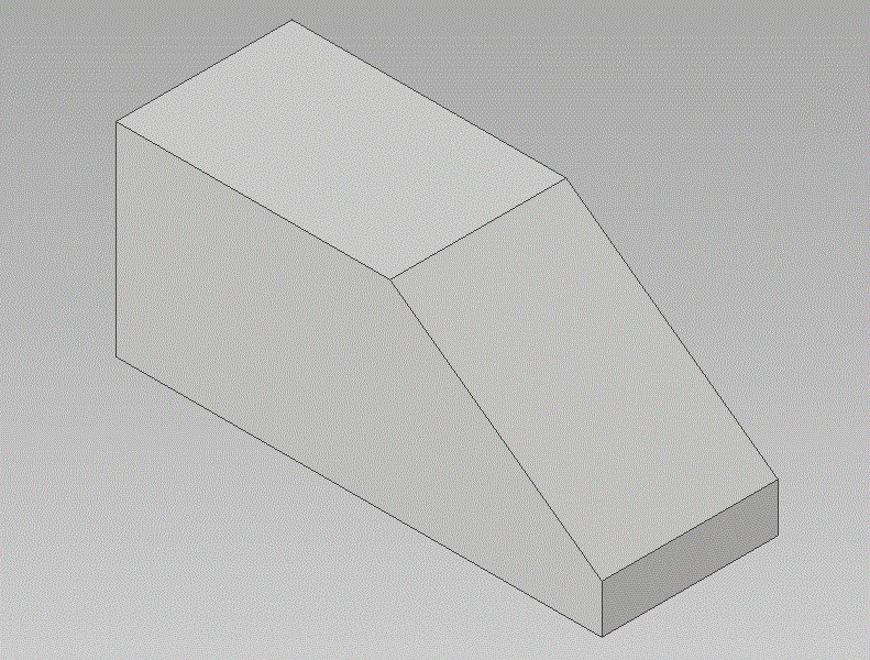 Block cut at an angle to remove the sharp edge.