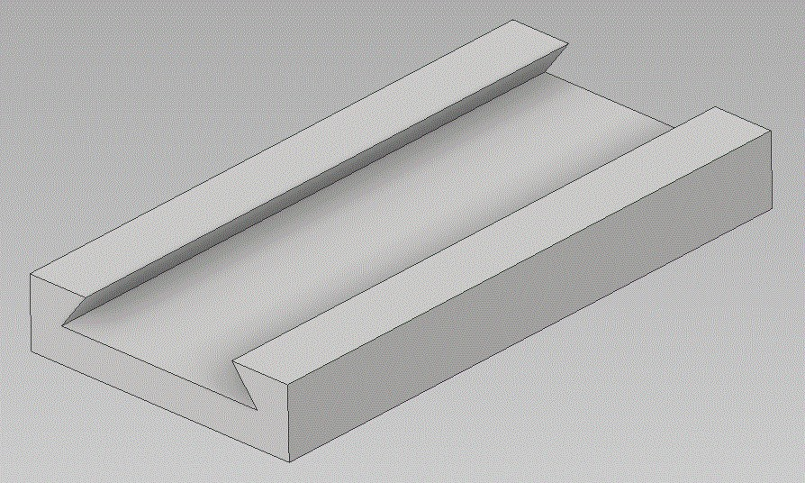Image showing a dovetail cut in a piece of material.