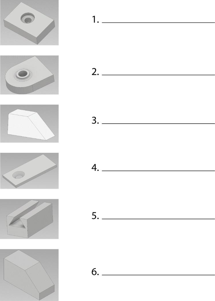 graphic quiz for identification of surfaces and holes.