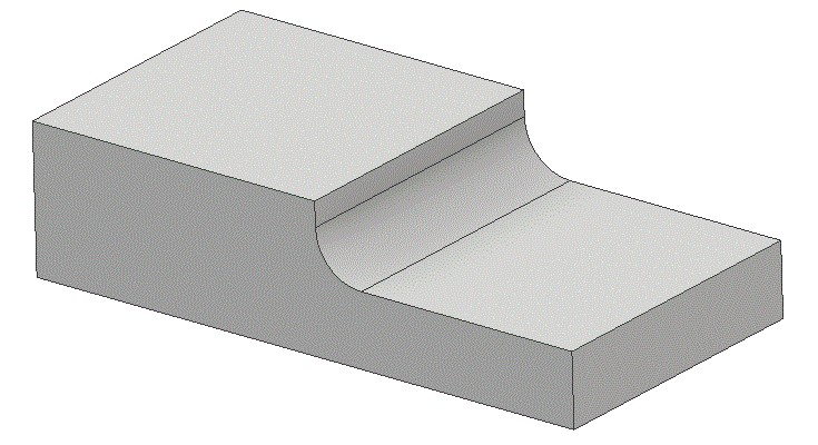 Material showing a fillet.
