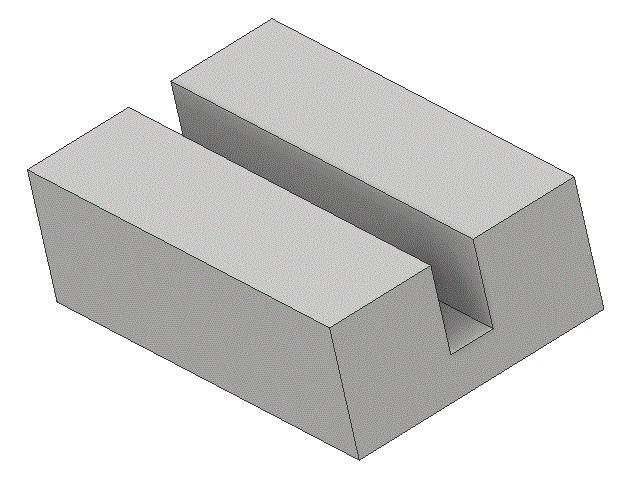Material showing a kerf