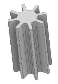 A gear shape.