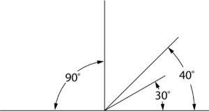 drawing 30, 60, 90 degree angles.