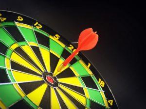 Target with a bullseye dart