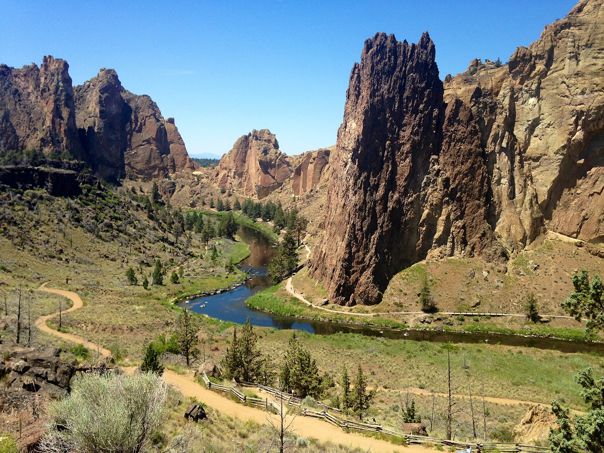 Smith Rock in the afternoon