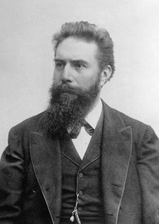 black and white photo of Wilhelm Conrad Roentgen
