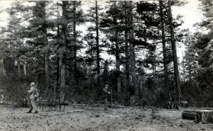 men walking in Oregon forest