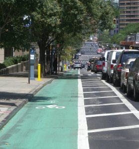 Bike lane on city street