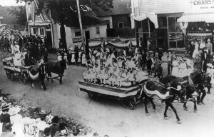 old parade float from 1912