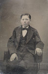 boy in suit, 1856-1900