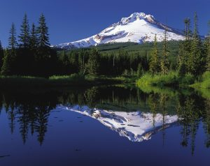 Mt. Hood and Mirror Lake