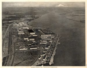 Kaiser shipyards in Vancouver, Oregon