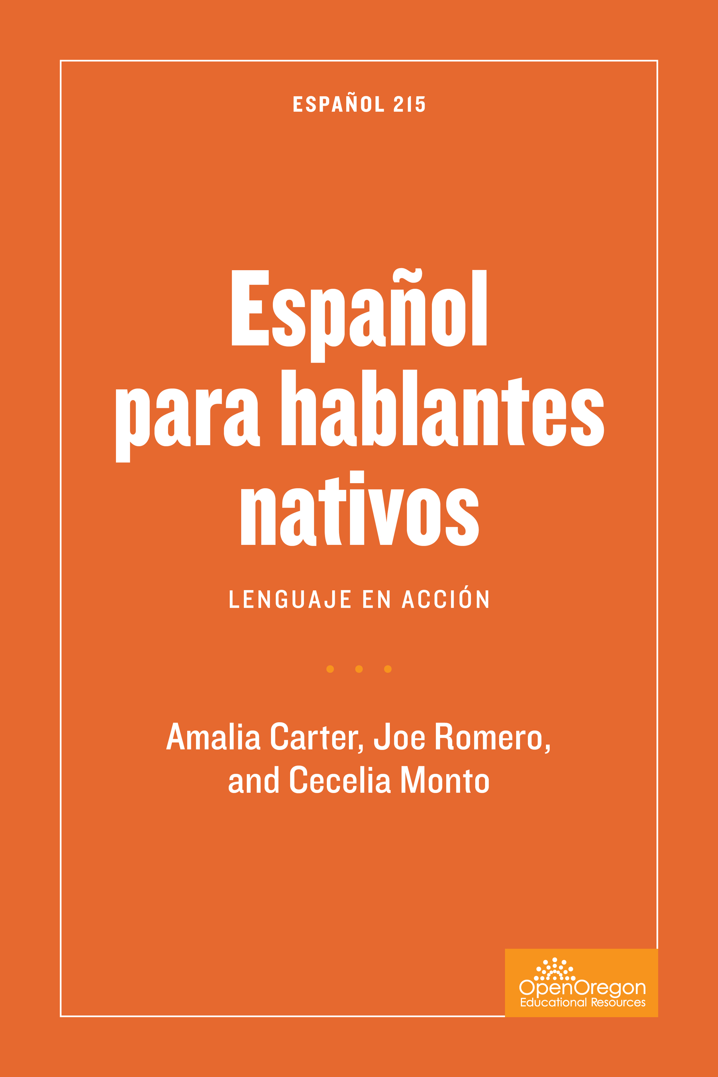 SPN215: Español para hablantes nativos