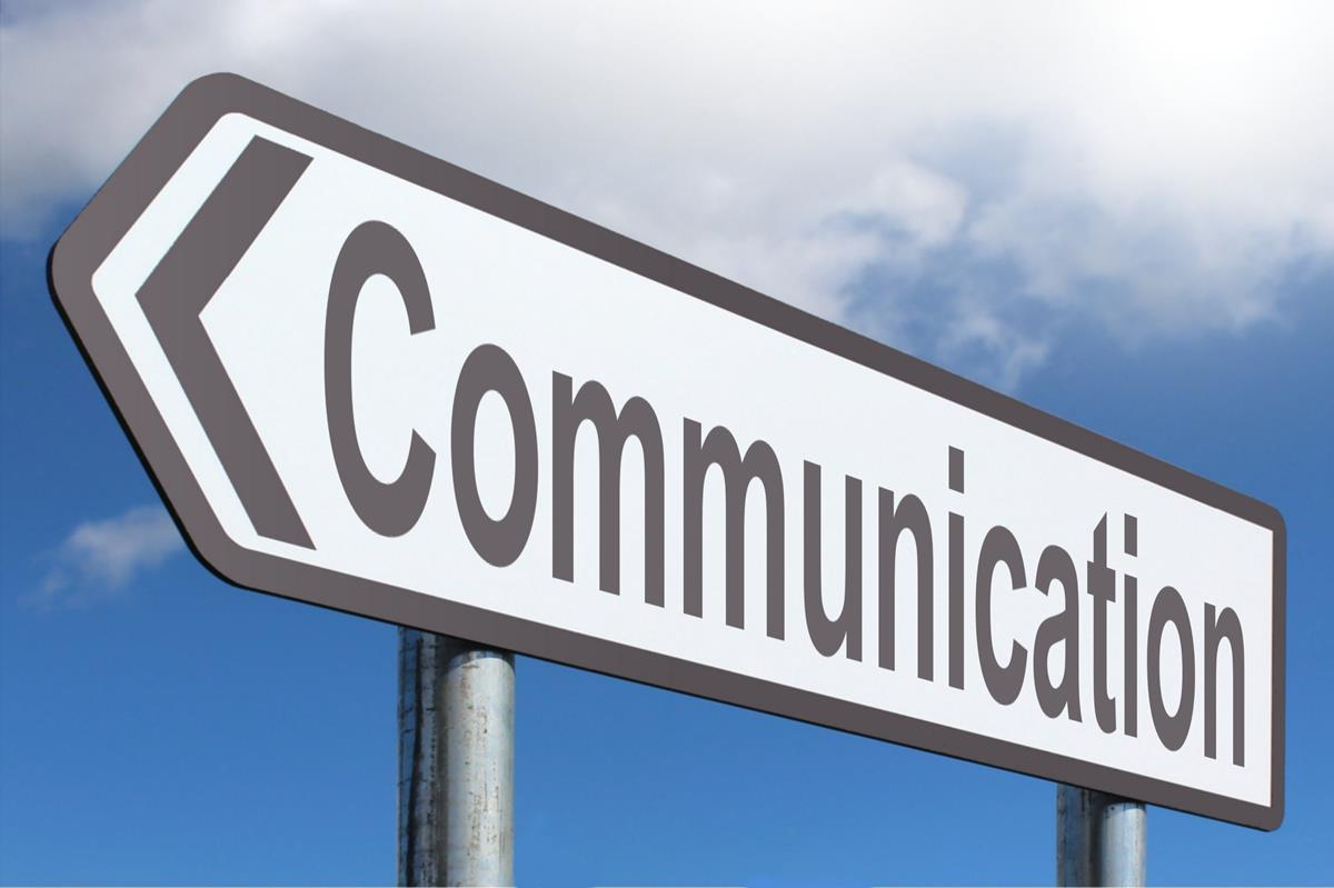 Communication Street Sign