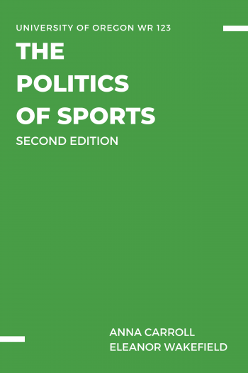 Cover image for The Politics of Sports