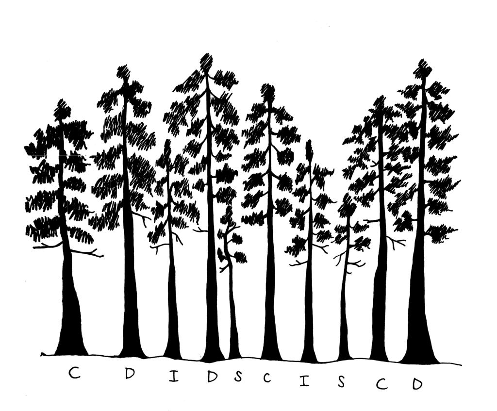 repeat illustration of trees showing crown position and crown width of dominant, codominant, intermediate and suppressed trees