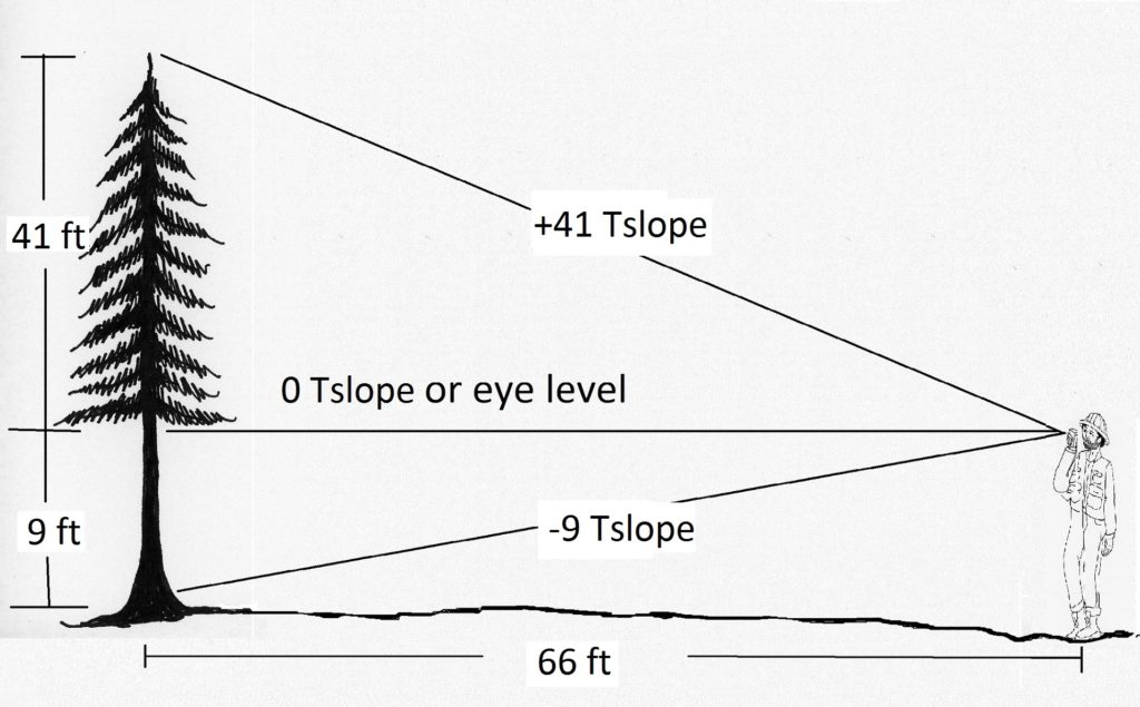 graphic showing measurement with Tslope instead of %slope