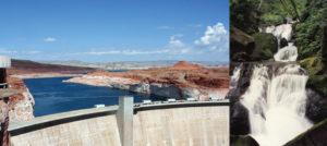 dam vs waterfall