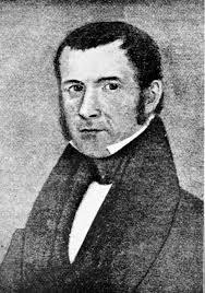 Black and white portrait of Hall Jackson Kelley.