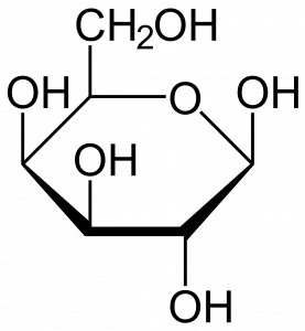 figure shows Hayworth projection of galactose chemical structure