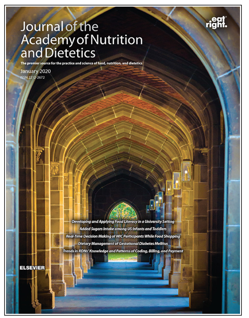 A sample cover of the journal of the Academy of Nutrition and Dietetics.